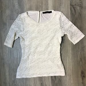 The Limited Cream Lace Top